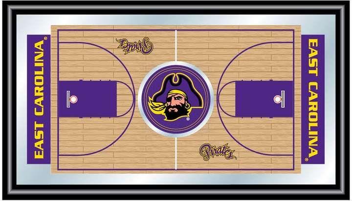 NCAA East Carolina Pirates Framed Basketball Court Wall Art