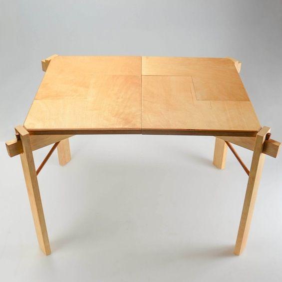 Etudiante en design à Providence dans l'état de Rhode Island, Jie Gao a imaginé cette table en collaboration avec Cory Lambert, Robert Audroue et Zung Nyuen Vu.