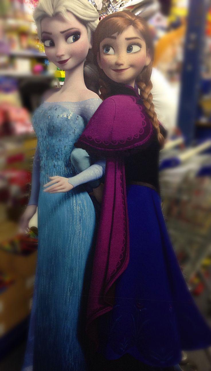 Ana Elsa cutout frozen
