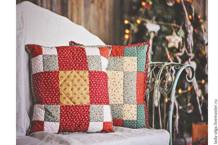 Relax quilted cushions #quilting # cushion #patchwork cushions / Подушки наволочки Relax в стиле Кантри стеганые лоскутные #лоскутные подушки #лоскутные красные подушки  #подушки пэчворк