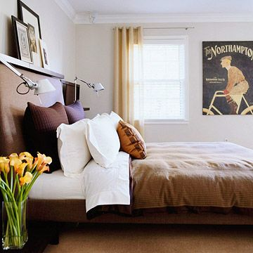 dark taupe beige upholstered bed