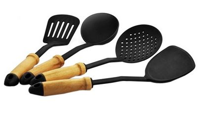 Celestial Kitchen Tool Set – 4 Pcs at Rs. 179 only ..!!  Set contains 1 slotted turner, 1 turner, 1 skimmer and 1 ladle. Sleek and stylish utility items for a smart kitchen ...!!