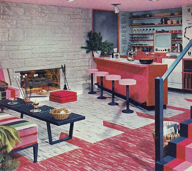 64 best FIFTIES THEME ROOMS images on Pinterest   Bat ideas ...  S Retro Home Design on 1950s vintage kitchen designs, 1950s rockabilly designs, 1950s sofa designs,