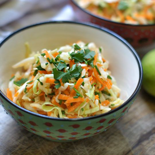 Sweet Sesame-Lime Cabbage Salad.  This salad makes the perfect packed lunch for school or work, and will actually get better as it marinates!