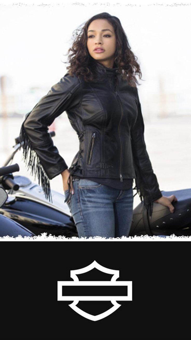 Harley Davidson Girls Pictures Harleydavidsongirlsgifts Harleydavidsongirlswoman In 2020 Classic Harley Davidson Harley Davidson Motorcycles Fringe Leather Jacket