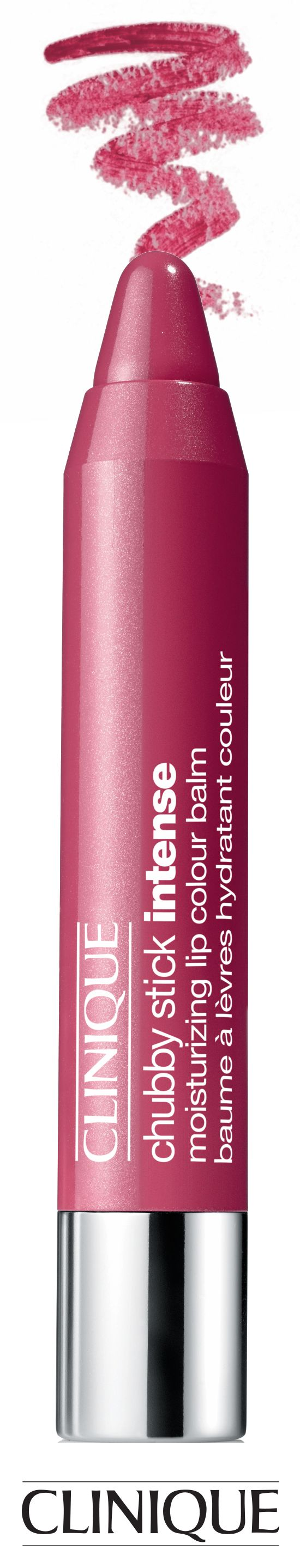 Go bold and bright with Clinique Chubby Stick Intense in Roomiest Rose.