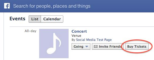 """Facebook Tests """"Buy Tickets"""" Button In Israel And The Netherlands"""