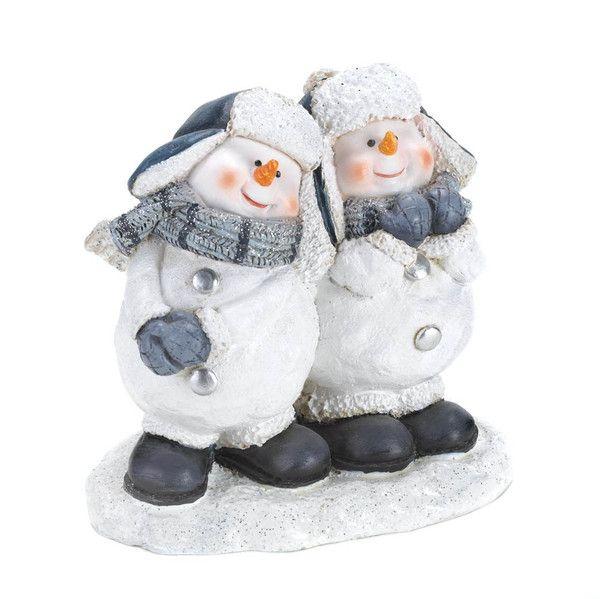 CHEERFUL SNOWMEN DUO FIGURINE www.eaglecrazgifts.com Cheerful Snowmen Duo Figurine  These two cuties are BSFF (best snowmen friends forever)! $9.95