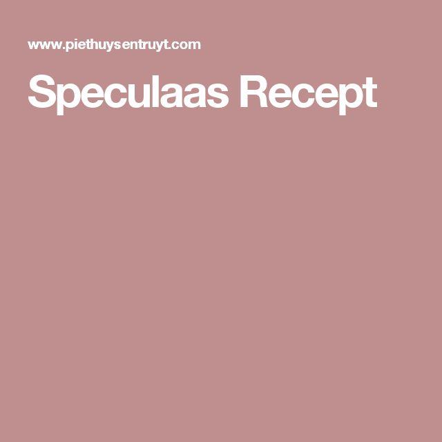 Speculaas Recept