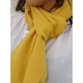 Knitted Scarf - 50/50 Yellow