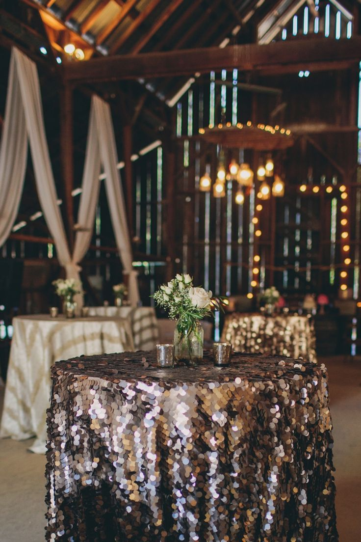 Whoever said a barn wedding couldn't be glamorous!? #wedding #barnwedding #classy