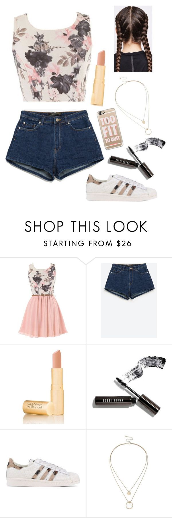 """""""Untitled #5"""" by breanna113 ❤ liked on Polyvore featuring Zara, Fashion Fair, Bobbi Brown Cosmetics, adidas Originals, Sole Society and Casetify"""