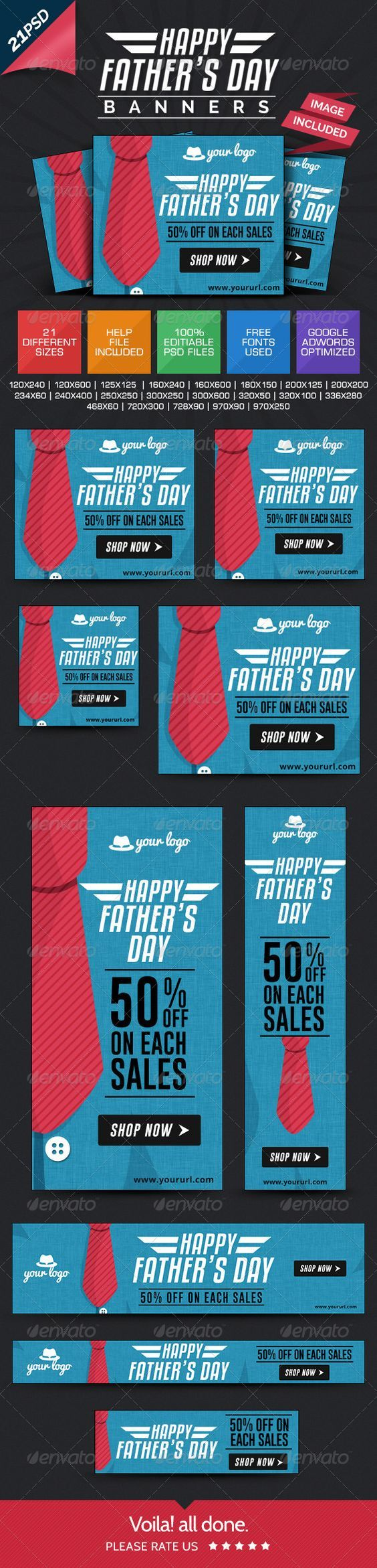 Father's day Banners Template PSD | Buy and Download: http://graphicriver.net/item/fathers-day-banners/7912202?WT.ac=category_thumb&WT.z_author=doto&ref=ksioks: