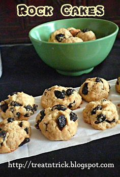 TREAT & TRICK: ROCK CAKES Traditional tea time treat originating from UK, made with  regular ingredients  resembling a rock