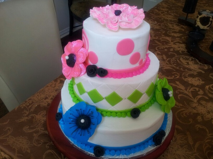 54 best Neon cakes images on Pinterest Neon cakes 13th birthday