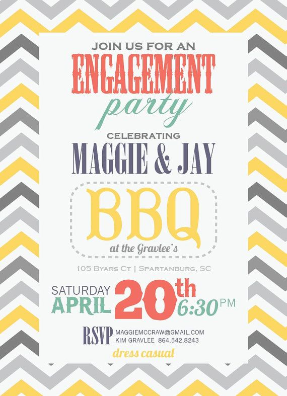Best 25 Casual engagement party ideas – Casual Engagement Party Invitation Wording