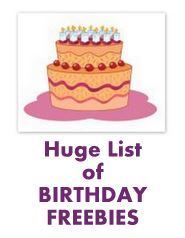 {Birthday Freebies} Big List of Free Stuff on Your Birthday