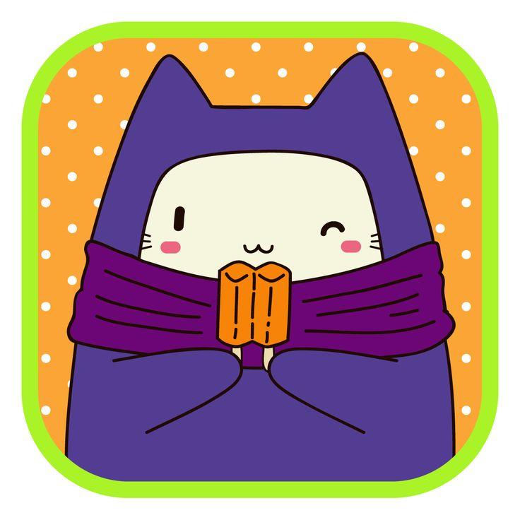 #LlaveNegra #ninja #cat #icecream #IlustraciónDigital #Illustrator #Photoshop.
