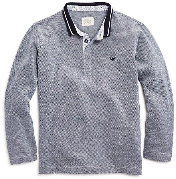 4307d866fe Armani Junior Boys' Contrast Piqué Polo - Little Kid, Big Kid | Products