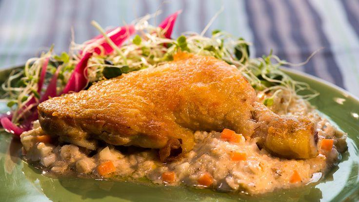 Norske byggryn blir i denne retten til en nydelig risotto.