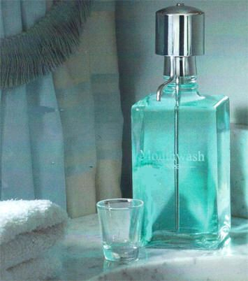 Mouthwash and Dispenser Pump from Dann, The perfect gift for someone who has everything !