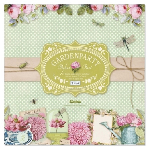 """Craftie-Charlie: Tilda Papercraft 12""""x12"""" Double Sided Paper Stack - Gardenparty"""
