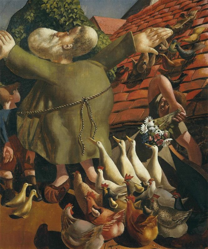 Stanley Spencer - 'St Francis and the Birds' portrait of his father.