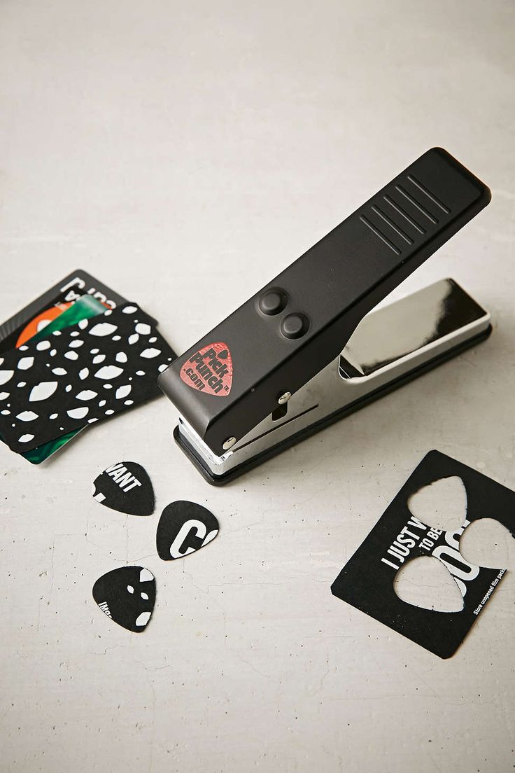 Guys LOVE this tool! Make a guitar pick out of old credit cards or gift cards!