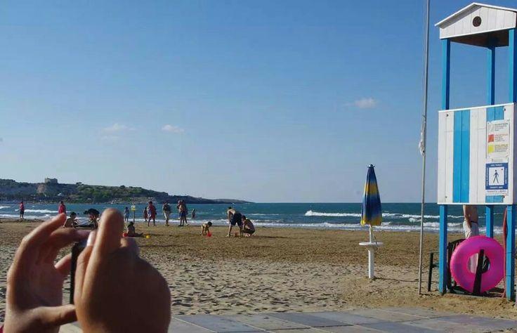 hotel i melograni #Vieste: the beach and the Adriatic sea