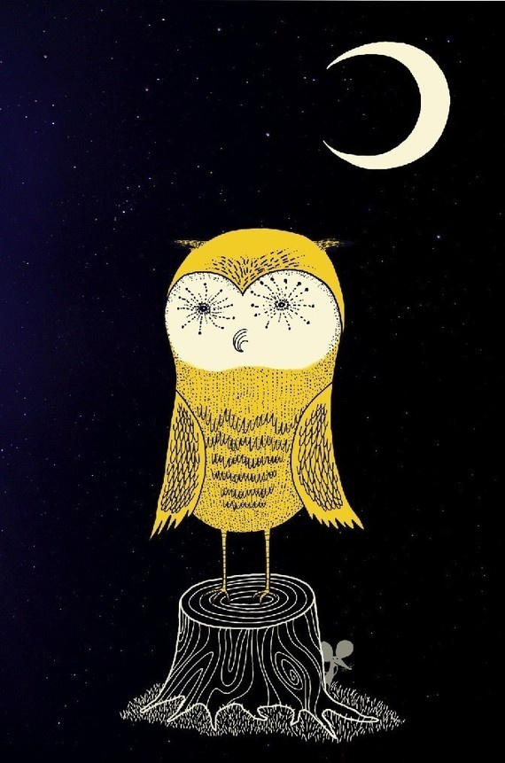 7 March 13. owl & mouse