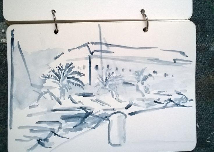 Stari Grad (Hvar, HR) harbor - from my sketches diary