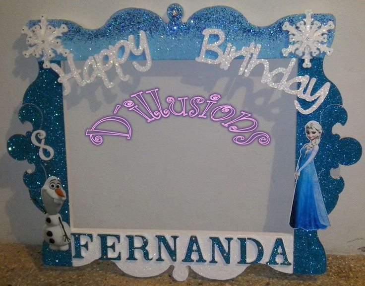 Marco para Fotos Elsa Frozen