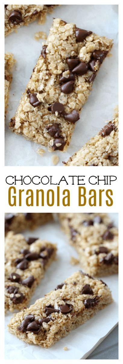 Douce, caoutchouteuse et sucrée au miel et à la cassonade, cette recette de barre de granola …   – For the Home