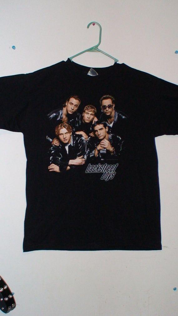 Retro 90 S Backstreet Boys Concert T Shirt Size Large