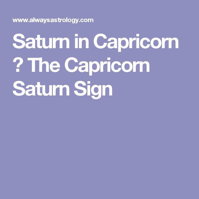 Saturn in Capricorn – The Capricorn Saturn Sign