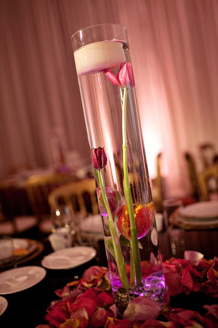 66 best business dinner royal theme images on pinterest for Tall candle centerpieces
