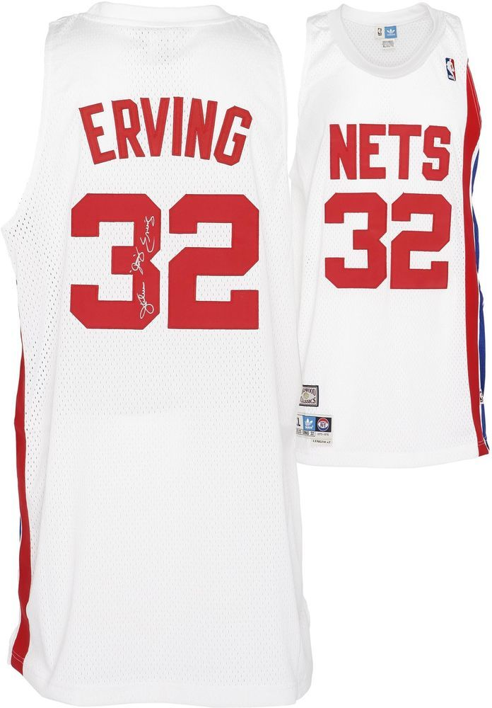 86e59684724 Julius Erving New Jersey Nets Signed Jersey w/