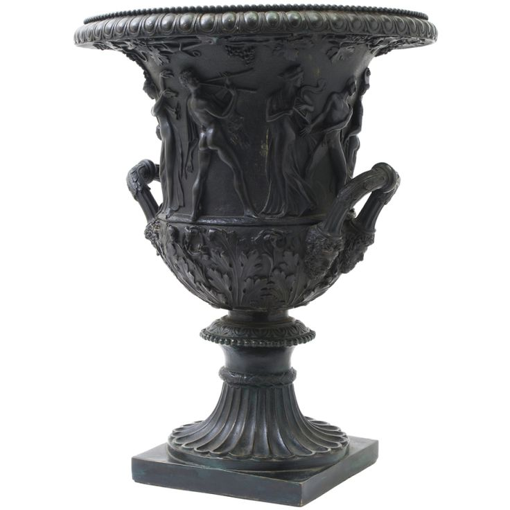 Large Finely Cast And Chased Bronze Grand Tour Borghese Urn