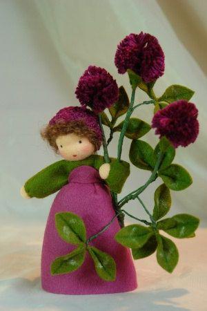 Clover  Flower Child  Waldorf Inspired  di KatjasFlowerfairys