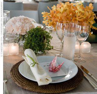 perfect table setting. fresh, clean, modern