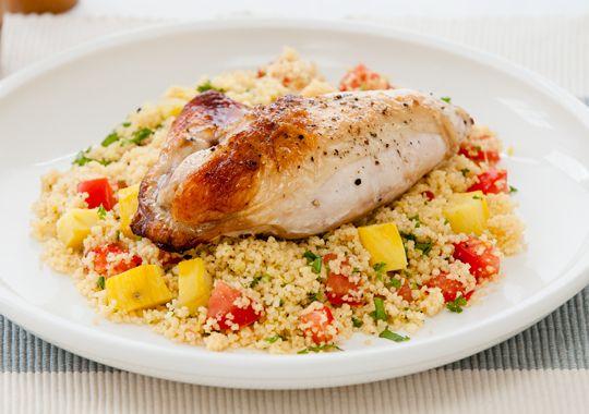 Roast Chicken with Kumara Couscous