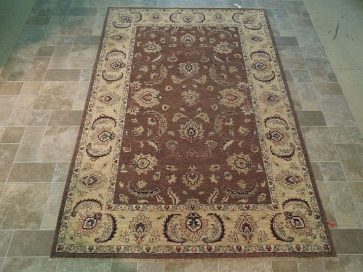 Brown 6x8 Vegetable Dyed Chobi Rug Hand Knotted Rugs and Carpets SALE