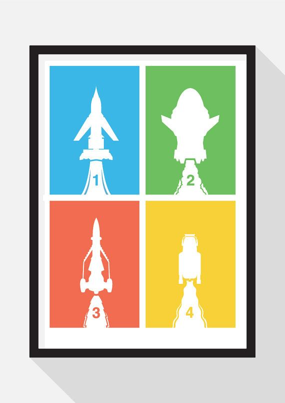 Thunderbirds Are Go by TheDesignCollection on Etsy