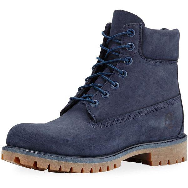 timberland 6 premium waterproof boots - men's navy blue