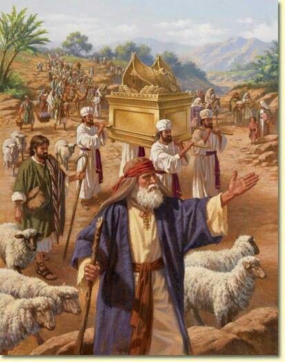 Moisés fue leal en su papel del transporte del Arca de la Alianza.