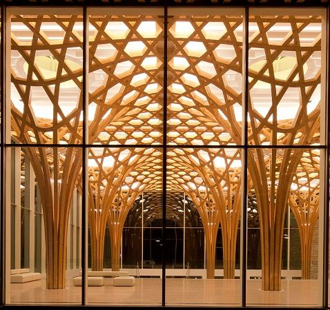 Interno del Nine Bridges Golf Club in Corea del Sud - #Shigeru #Ban