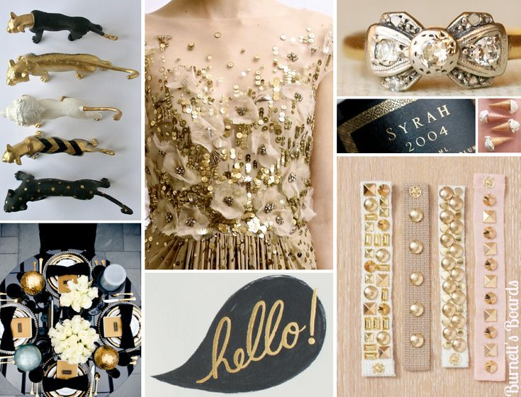 {black and gold} glamourous and fun black and gold wedding ideas and details