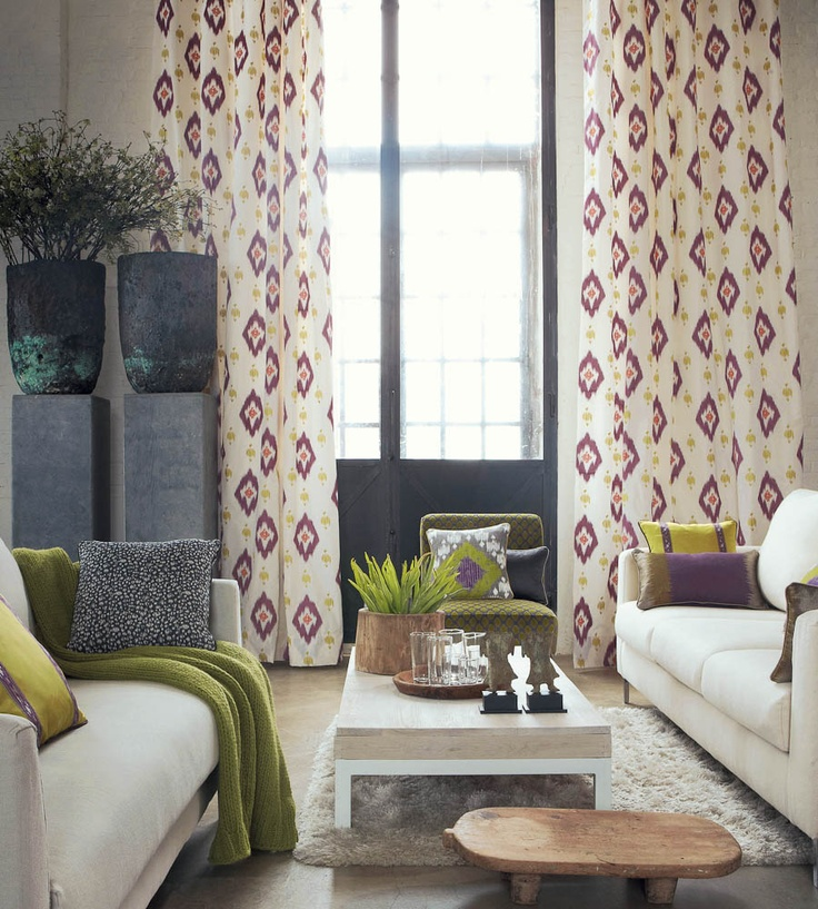 Interior Trends, Ikat Patterns | Escale A La Medina Fabric by Camengo