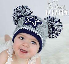 Dallas Cowboys Crocheted Hat - Baby girl boy child