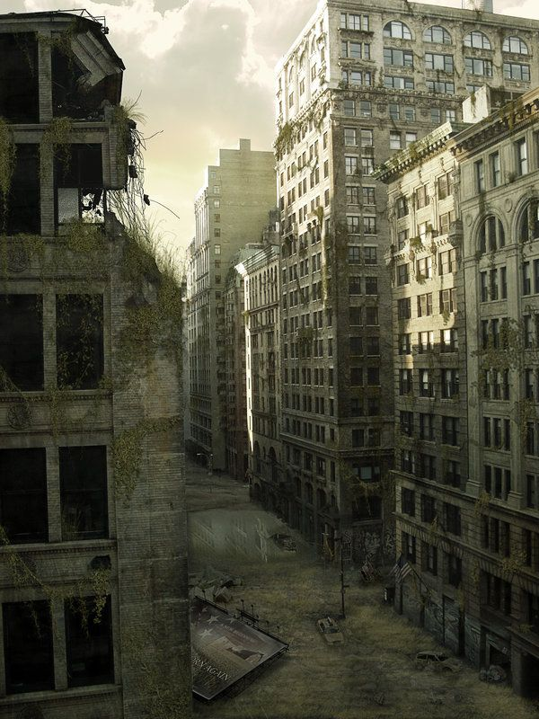 Post-apocalyptic city street